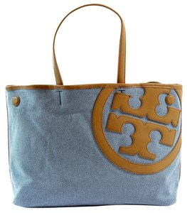 Tory Burch Tote in Navy / Tan