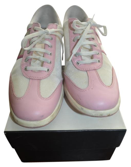 Item - Pink/White Box Sport Rubber Soles and Front Lace Closure. Includes Box. Sneakers Size US 9 Regular (M, B)