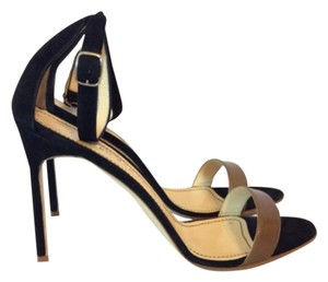 Manolo Blahnik Black/Brown Sandals