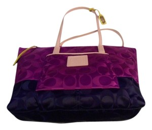 Coach Tote in Purple, Navy, Lime, Fushia