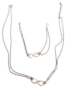 Tiffany & Co. Authentic Tiffany & Co Infinity Necklace And Bracelet Set
