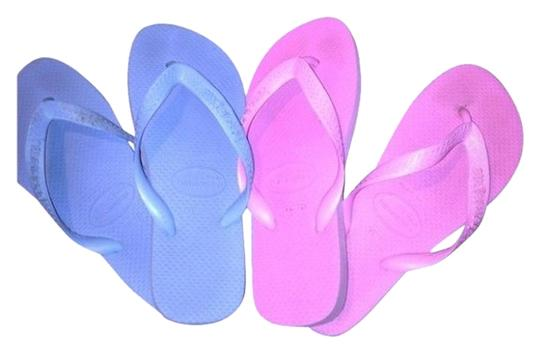 Havaianas Pink and Blue Sandals
