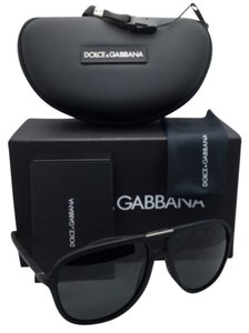 Dolce&Gabbana New DOLCE & GABBANA Sunglasses DG 6092 2616/87 58-15 Black Rubber Frame w/ Grey lenses