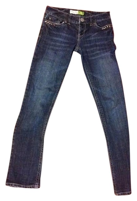 Aéropostale Studded Boot Cut Jeans-Dark Rinse