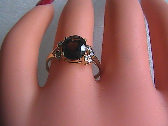 Other 10k Solid Yellow Gold 2.1 cts Smokey Topaz & Diamond Ring