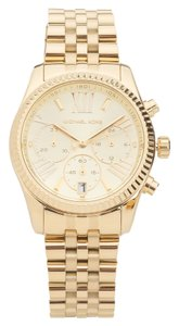 Louis Vuitton Michael Kors Gold Chronograph Lexington Watch (New with Tags)