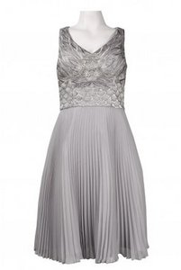 Sue Wong Platinum (Silver) N4136 Dress