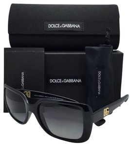 Dolce&Gabbana Polarized DOLCE&GABBANA Sunglasses DG 6093 501/T3 56-18 Black Frame w/ Grey Gradient Lenses