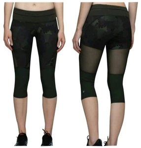 Lululemon New With Tags Lululemon Training Tough Crop Camo Size 8 Mesh