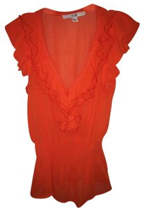 Forever 21 Ruffle Top Orange