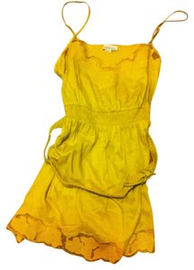 Forever 21 short dress Yellow Belted on Tradesy