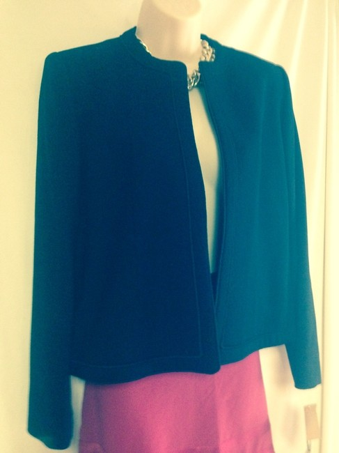 Evan Picone Lord And Taylor Vintage 80's New With Tags Very Elegant With Sartorial Detail S Open Front Fully Lined In Tags Deal Black Blazer