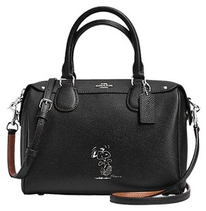 Coach Snoopy Peanuts Satchel in black