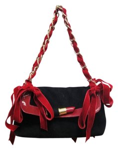 Moschino Cheap And Chic Lipstick Suede Shoulder Bag