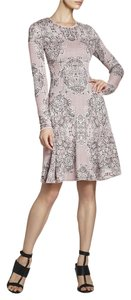 BCBGMAXAZRIA short dress Dust Pink Combo Lace Bcbg Julisa Jacquard on Tradesy