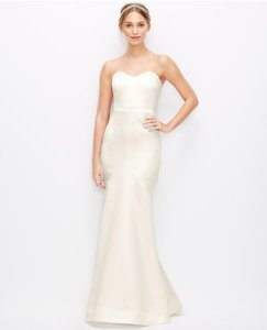 Designer clothing and accessories up to 90 off at tradesy ann taylor ivory formal wedding dress size 6 s junglespirit Image collections
