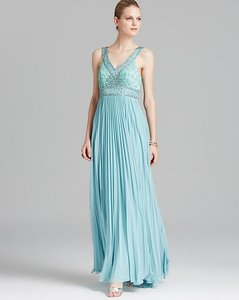 Sue Wong Aqua N3537 Feminine Bridesmaid/Mob Dress Size 6 (S)