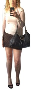 BCBGMAXAZRIA Mini Pinstripe Mini Skirt Brown