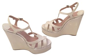 Miu Miu White Wedges