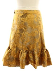 Elevenses Fancy Embroidered Skirt Gold
