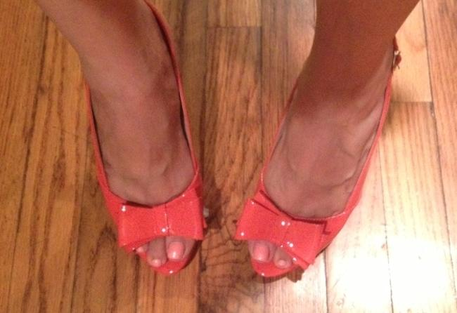 Item - Coral Anisha Patent Leather Slingback In Pumps Size US 7.5