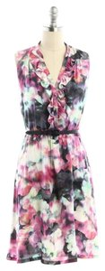 Cynthia Steffe short dress Floral Print Sleeveless Floral Belted on Tradesy