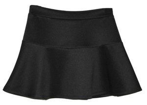 Banana Lemon Mini Skirt Black