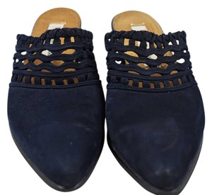 Guess By Marciano Blue Nobuck Mules