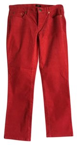 J.Crew Boot Cut Pants Red