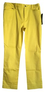 Ralph Lauren Straight Pants Yellow
