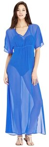 Old Navy NWT women's Old Navy Crinkle-Chiffon Maxi Swim Cover-Up Blue size XL NEW
