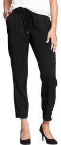 Old Navy Drapey Twill Rayon Nwt Trouser Pants Black