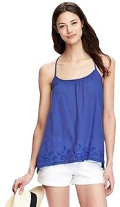 Old Navy Embroidered Gauze Top Blue
