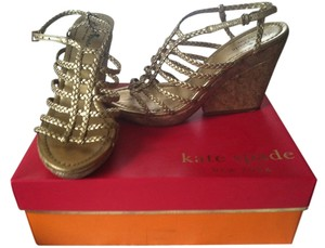 Kate Spade gold metalic Sandals