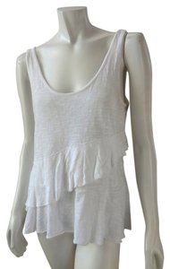 DKNY Sleeveless Cami Shirt Top White