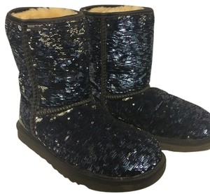 UGG Australia Duo blue&silver by flipping sequins Boots