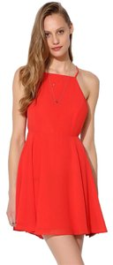 Silence + Noise short dress Red Mini Open Back on Tradesy