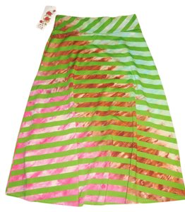Lucky Brand Skirt Green/brown/blue/pink