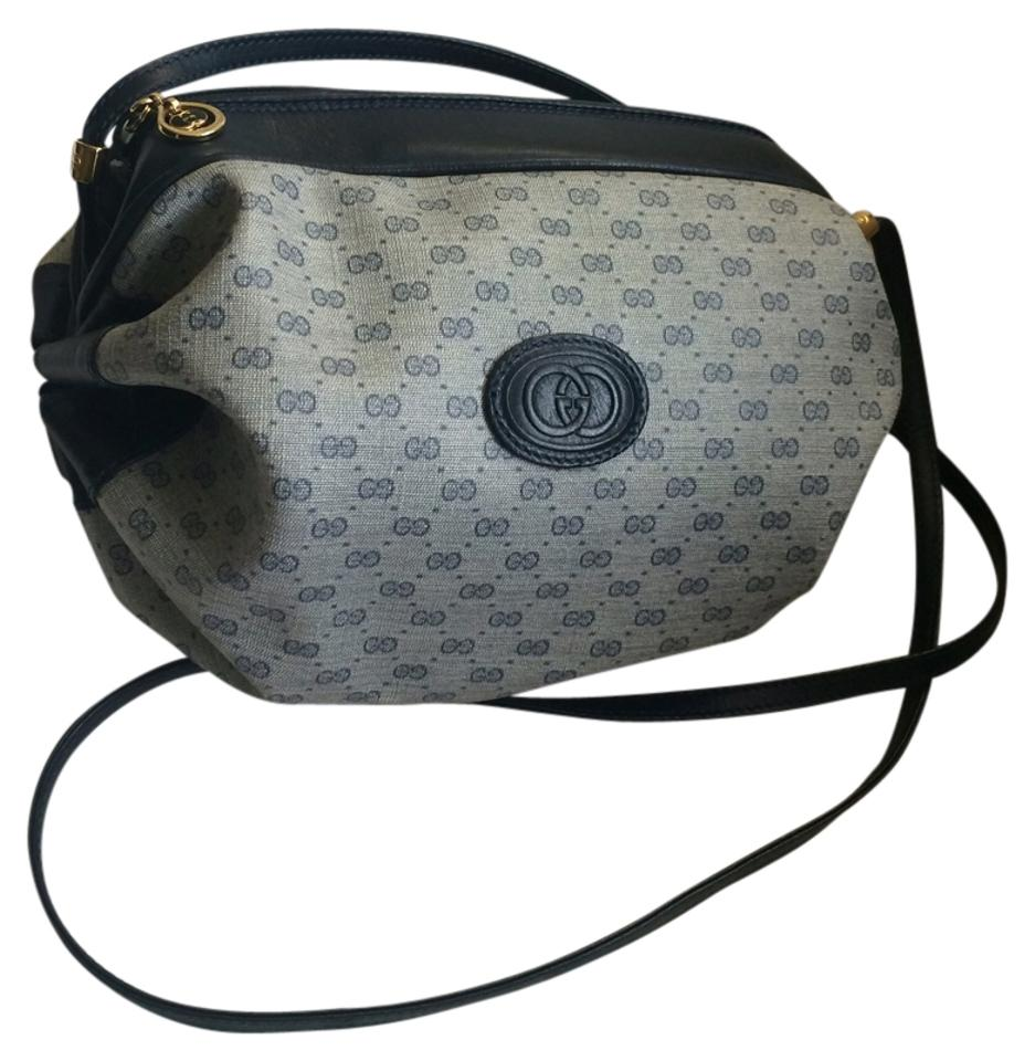 4617f846c2ef Gucci Unique Cinch Cutie Navy/Grey Cross Body Bag - Tradesy