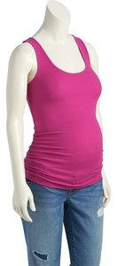 Old Navy NWT women's Old Navy Maternity Rib-Knit Jersey Tank Top size Small Cotton Blend Fuchsia Pink NEW