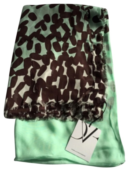Item - Mint / White / Brown Campbell Scarf/Wrap