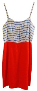 Daniel Cremieux short dress Orange/Blue/White on Tradesy