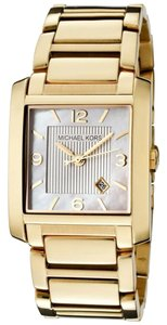 Michael Kors Mother of Pearl Dial Gold Plated Classic Ladies Watch