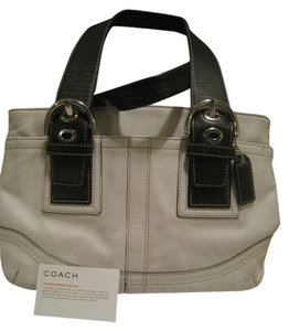 Coach Discontinued Tote in White and Dark Brown