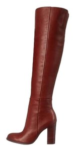 Sam Edelman Over The Knee Timeless Leather Sexy Rust Boots
