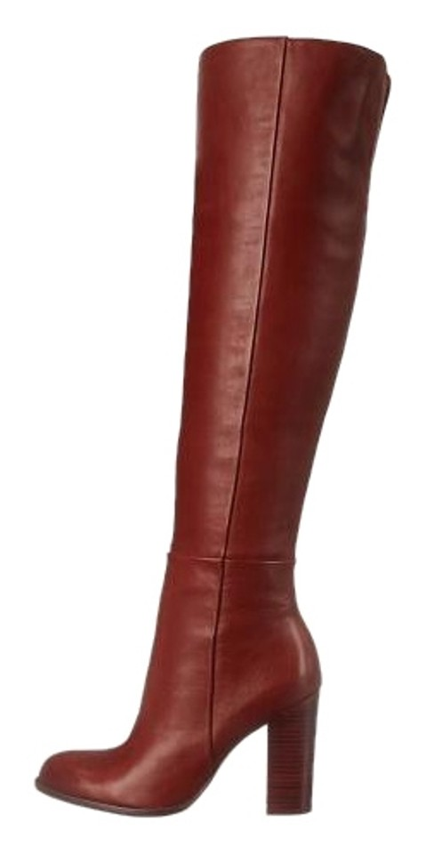 8aa5506aacbbd6 Sam Edelman Over The Knee Timeless Leather Sexy Rust Boots Image 0 ...