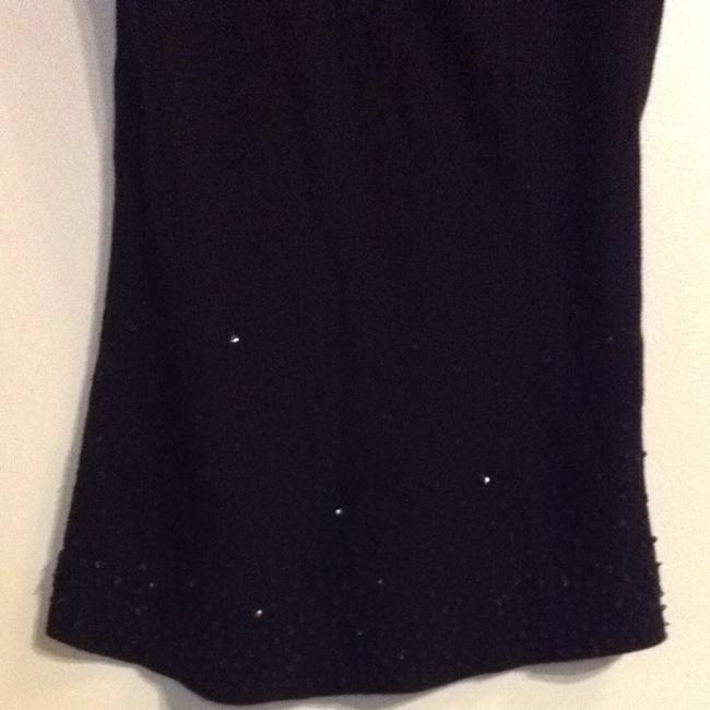 Language Beaded Accents Top Black