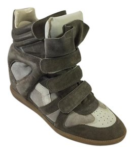 Isabel Marant Wedge Sneakers Concelled Taupe Wedges