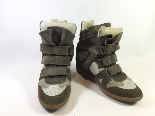 Isabel Marant Sneakers Concelled Taupe Wedges