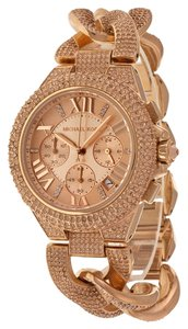 Michael Kors Rose Gold Crystal Pave Designer Luxury Watch
